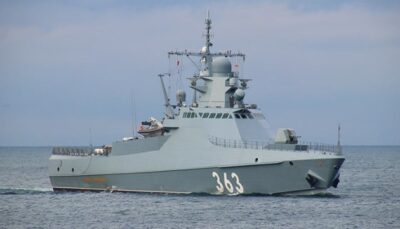 Біля узбережжя України зафіксували ракетний корабель РФ